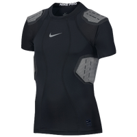 Nike Hyperstrong 4-Pad Top - Boys' Grade School - Black / Grey