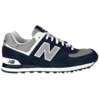 new balance 574 navy silver