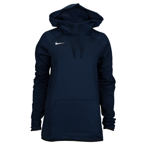 Nike Team Sideline Therma Hoodie Pullover - Women's Basketball - College Navy/White 45792422