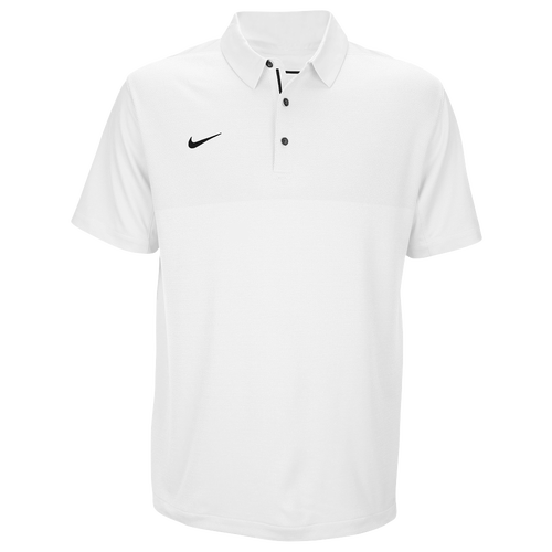 Nike Team Sideline Dry Elite Polo - Men's Baseball - White/Gorge Green 45830107