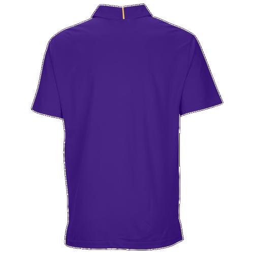 Nike Team Sideline Dry Elite Polo - Men's Baseball - Court Purple/Sundown 45830547