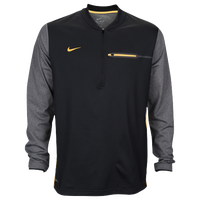 Nike Team Sideline Coach 1/2 Zip Top - Men's - Black / Yellow