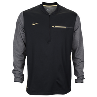 Nike Team Sideline Coach 1/2 Zip Top - Men's - Black / Gold