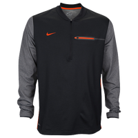 Nike Team Sideline Coach 1/2 Zip Top - Men's - Black / Orange