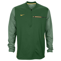 Nike Team Sideline Coach 1/2 Zip Top - Men's - Dark Green / Yellow