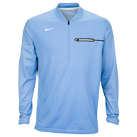Nike Team Sideline Coach 1/2 Zip Top - Men's - Light Blue / White