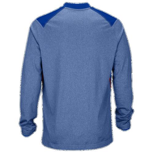 Nike Team Sideline Coach 1/2 Zip Top - Men's Baseball - Game Royal/University Red 45831481