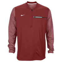 Nike Team Sideline Coach 1/2 Zip Top - Men's - Cardinal / White