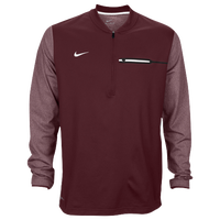 Nike Team Sideline Coach 1/2 Zip Top - Men's - Maroon / White