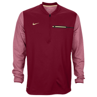 Nike Team Sideline Coach 1/2 Zip Top - Men's - Maroon / Gold