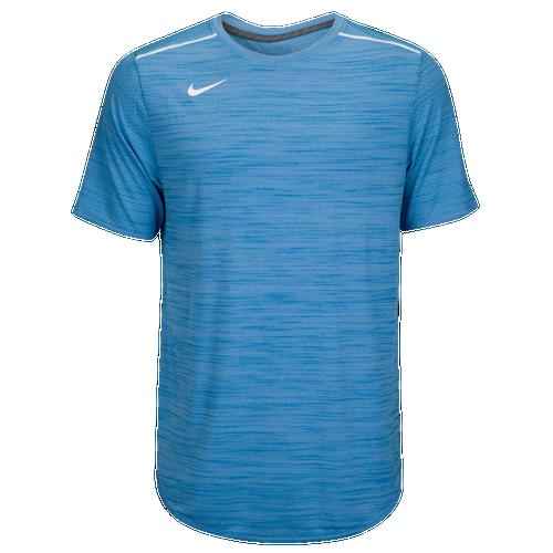 Nike Team Sideline Breathe S/S Poly Top - Men's Baseball - Valor Blue/White 45838448