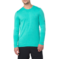 ASICS® Seamless Long Sleeve T-Shirt - Men's - Aqua / Aqua