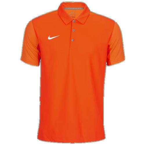 Nike Team Sideline Polo - Men's Baseball - Team Orange/White 45898891