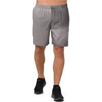 "ASICS® 7"" Unlined Print Shorts - Men's - Grey / Grey"
