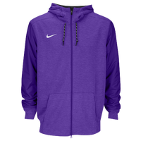 Nike Team Sideline Full-Zip Travel Hoodie - Men's - Purple / Purple