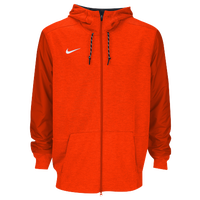 Nike Team Sideline Full-Zip Travel Hoodie - Men's - Orange / Orange