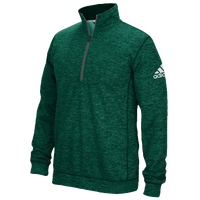 adidas Team Issue 1/4 Zip - Men's - Dark Green / Grey