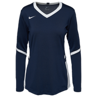 Nike Team Hyperace Long Sleeve Game Jersey - Women's - Navy / White