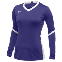 Nike Team Hyperace Long Sleeve Game Jersey - Women's - Purple / White
