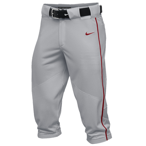 Nike Team Vapor Pro Piped High Pants - Men's - Baseball - Clothing - Blue Grey/Scarlet/Scarlet