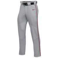 Nike Team Vapor Pro Pant Piped - Boys' Grade School - Grey / Red