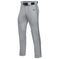 Nike Team Vapor Pro Pant Piped - Boys' Grade School - Grey / Dark Green