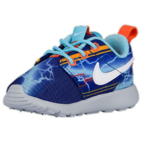 buy online b50c7 38d1a 85%OFF Nike Roshe One Boys Toddler Running Shoes Deep Royal Blue Univ Gold  Electro