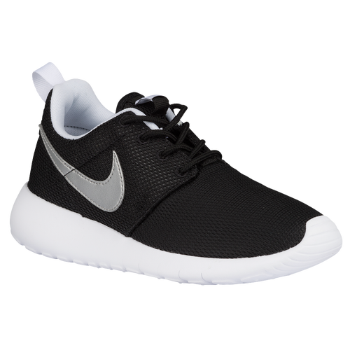 Nike Roshe One - Boys Preschool - Casual - Shoes -  BlackWhiteWhiteMetallic Silver