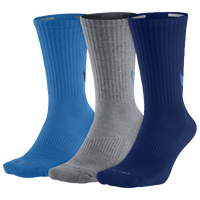 Nike 3PK Dri-FIT Cushion Crew Socks - Men's - Light Blue / Grey