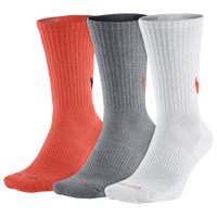 Nike 3 Pack Dri-FIT Max Crew GFX Socks - Men's - Orange / Grey