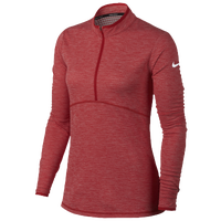 Nike Dri-Fit 1/2 Zip Golf Cover Up - Women's - Red / Red