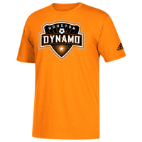 adidas MLS Logo Squad Primary T-Shirt - Men's - Houston Dynamo - Orange