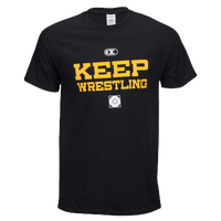 Cliff Keen Keep Wrestling Shirt Black - Men's - Black / Yellow