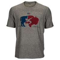 Cliff Keen MXS Melange Buffalo Logo Workout T-Shirt - Men's - Grey / Red