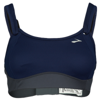 Brooks Fiona Sport Bra - Women's - Navy / Grey