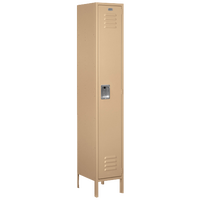 Salsbury Unassembled Single Tier Wide Locker - Tan / Tan