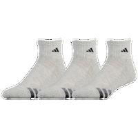 adidas quarter socks. adidas 3-stripe 3 pack quarter socks - men\u0027s grey / black