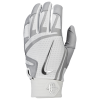 Nike Huarache Elite Batting Gloves - Men's - White / Grey