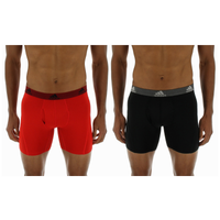 adidas Climalite 2 Pack Performance Boxer Briefs - Men's - Red / Black