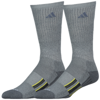 adidas Climalite X 2 Pack Cushion Crew Socks - Men's - Grey / Black