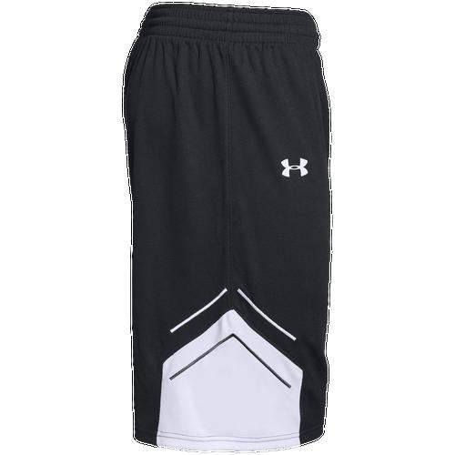 Under Armour Team Crunch Time Shorts - Men's Basketball - Black/White 52011001