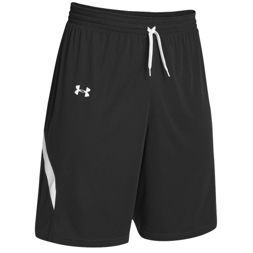 under armour shorts. under armour team clutch reversible shorts - men\u0027s black / white