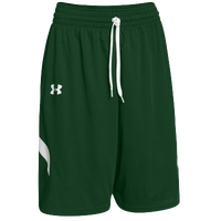 Under Armour Team Clutch Reversible Shorts - Men's - Dark Green / White