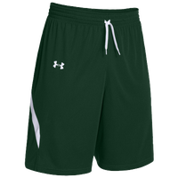 Under Armour Team Clutch Reversible Shorts - Women's - Dark Green / White