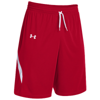Under Armour Team Clutch Reversible Shorts - Women's - Red / White