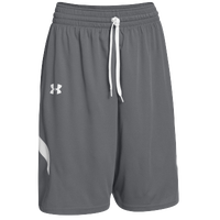 Under Armour Youth Team Clutch Reversible Shorts - Boys' Grade School - Grey / White
