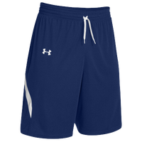 Under Armour Youth Team Clutch Reversible Shorts - Boys' Grade School - Navy / White