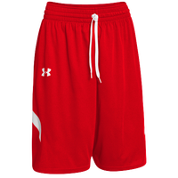 Under Armour Youth Team Clutch Reversible Shorts - Boys' Grade School - Red / White