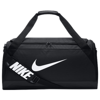 Nike Brasilia Medium Duffel - Black / White