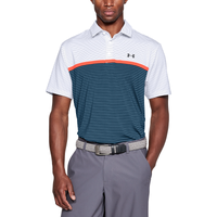 Under Armour Playoff Golf Polo - Men's - White / Navy